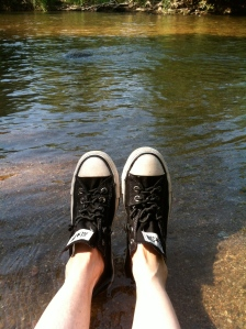 Converse, the Creek and the day before High School starts....